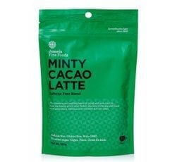 minty cacao latte, nutritional latte