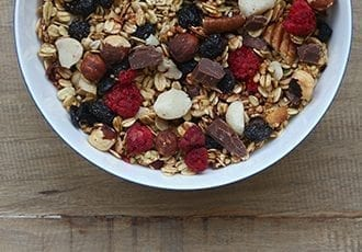 The Sweet Tooth muesli - delicious any time of day.
